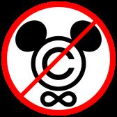 Logotipo do movimento de oposição à lei de extensão dos direitos autorais nos Estados Unidos.